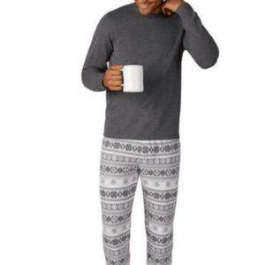 Eddie Bauer Mens 2-Piece Pajama Set, Gray